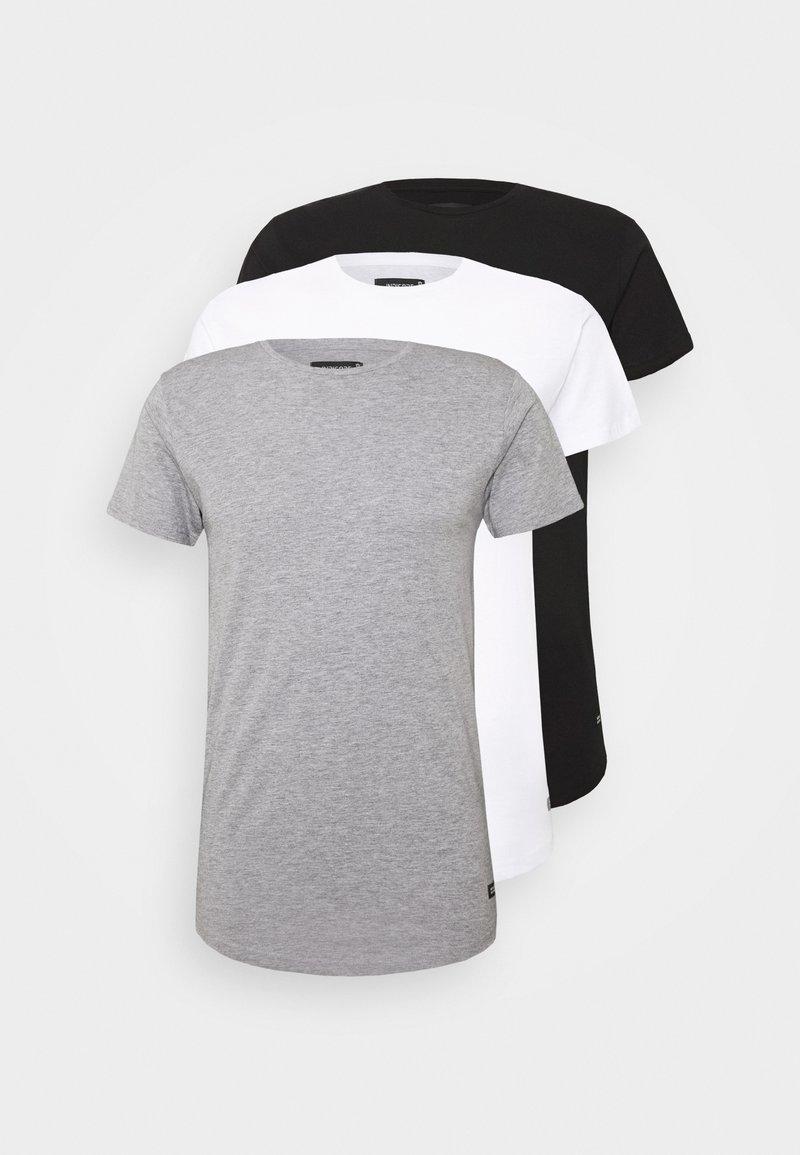 INDICODE JEANS - EAKIN 3 PACK - T-shirt - bas - black