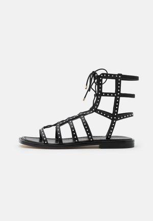 KORA LACE UP - Sandals - black