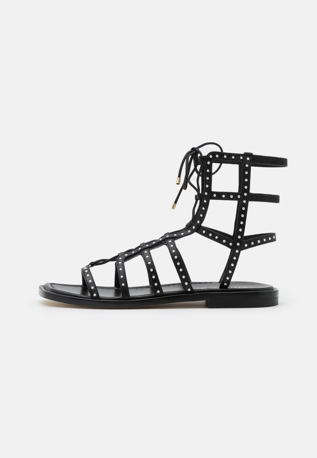 KORA LACE UP - Sandalen - black