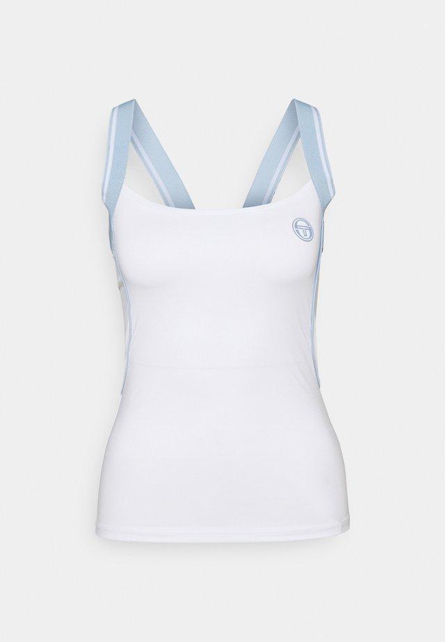 TANK WOMAN - Top - blanc de blanc/kentucky blue