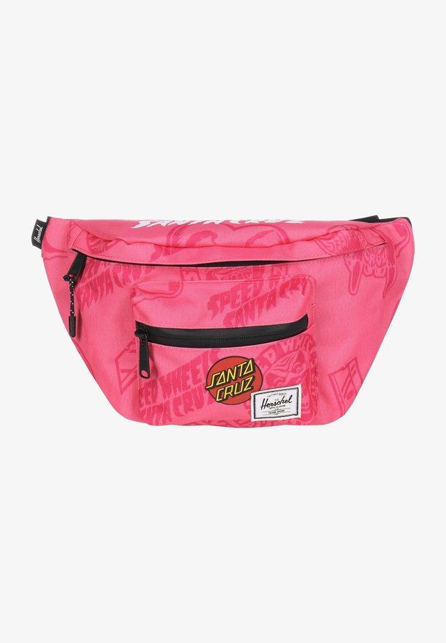 Bum bag - hot pink speed wheels