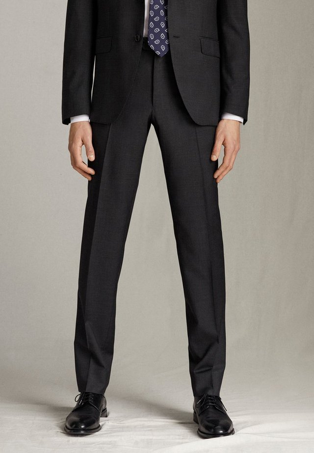 SLIM-FIT-HOSE AUS REINER WOLLE 00070321 - Spodnie garniturowe - dark grey