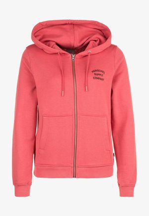 Zip-up hoodie - mineral red