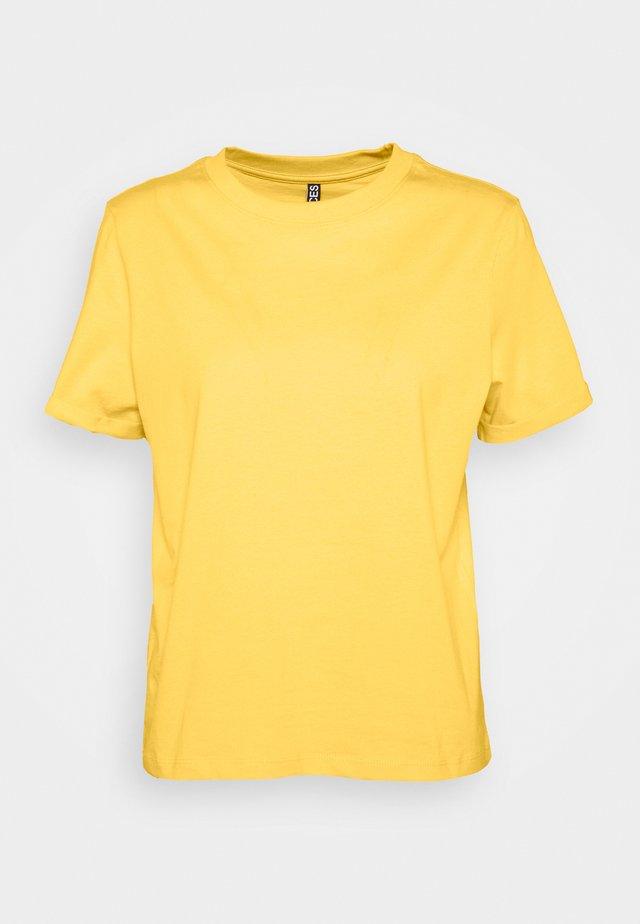 PCRIA FOLD UP SOLID TEE - T-shirt basic - banana