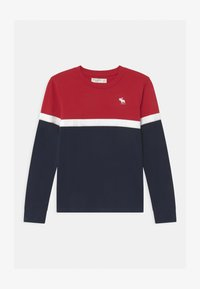 Abercrombie & Fitch - CHEST STRIPE - Long sleeved top - red - 0
