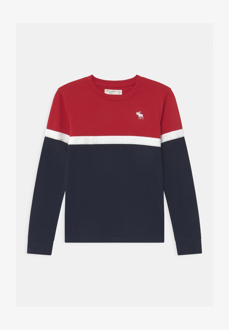 Abercrombie & Fitch - CHEST STRIPE - Long sleeved top - red
