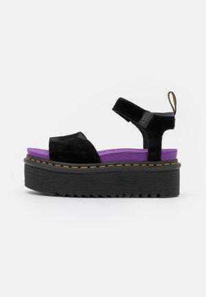 STRAP X-GIRL - Sandály na platformě - black