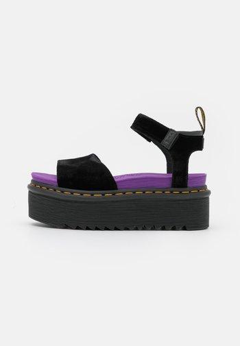 STRAP X-GIRL - Platform sandals - black