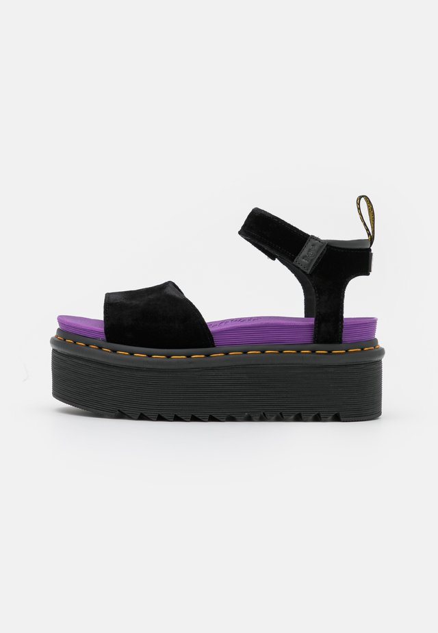 STRAP X-GIRL - Sandales à plateforme - black