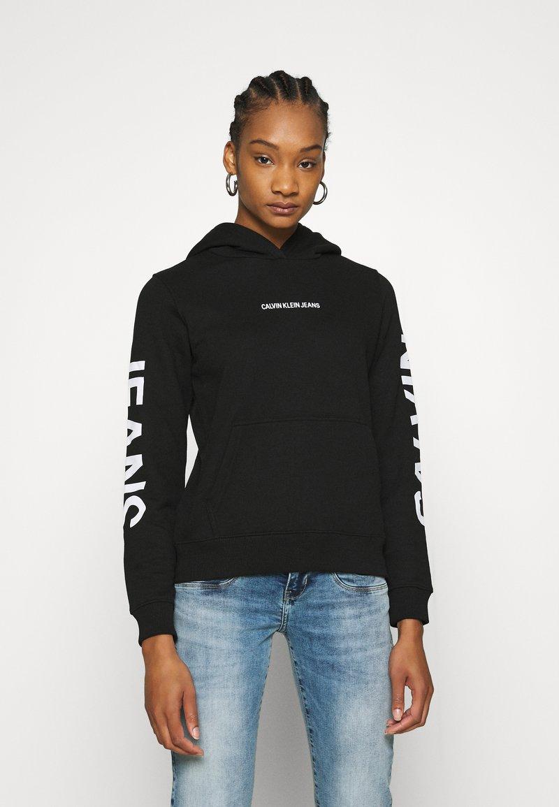 Calvin Klein Jeans - HOODIE - Hoodie - black