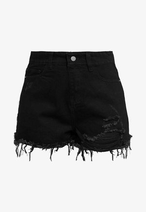 MONTANNA - Denim shorts - black