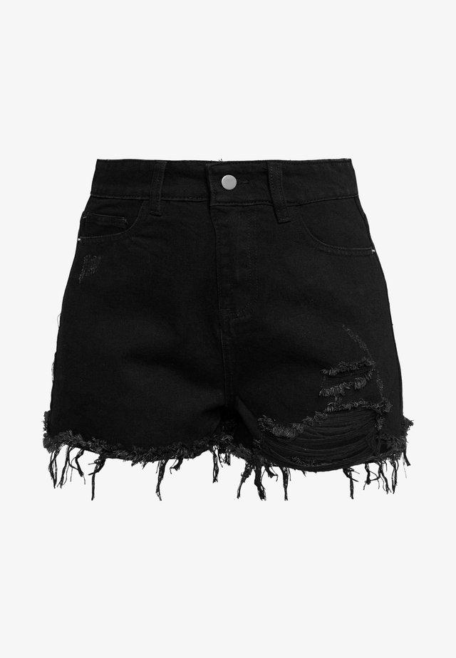MONTANNA - Jeansshorts - black