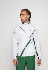 Lacoste Sport - SET TENNIS TRACKSUIT HOODED - Dres - white/green - 3