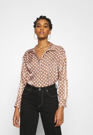 Blouse - brown geo