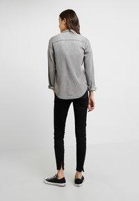 Vila - Button-down blouse - grey - 2