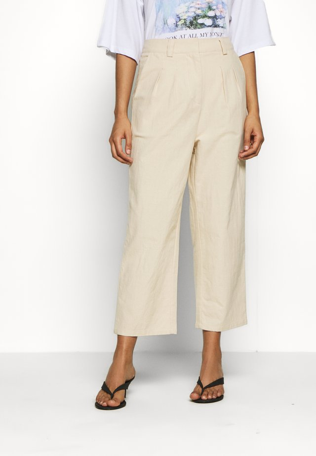 7/8 PANT - Spodnie materiałowe - beige