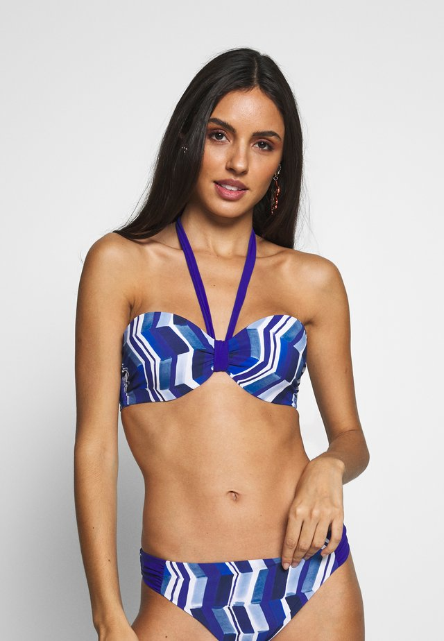 DEEP SEA BANDEAU SCHALE - Bikinitopp - blue waves