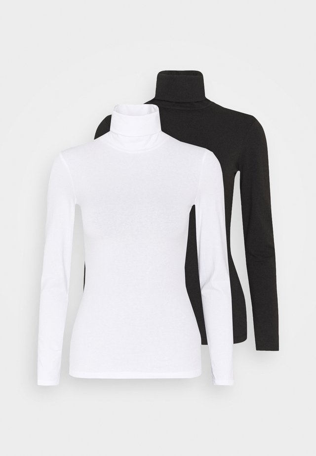 2 PACK - Langærmede T-shirts - black/white