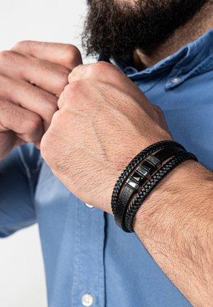 Bracelet - schwarz silber
