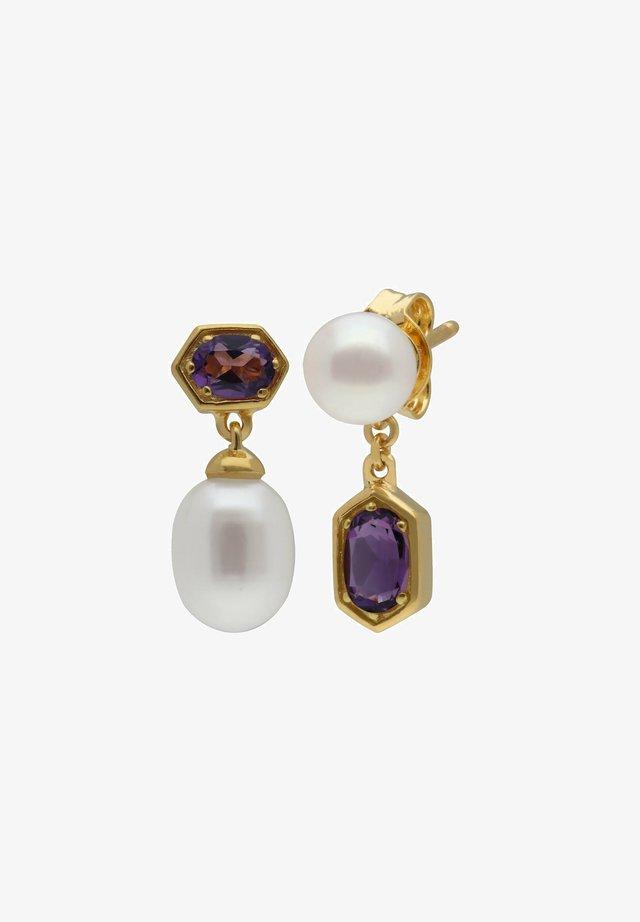 Earrings - purple