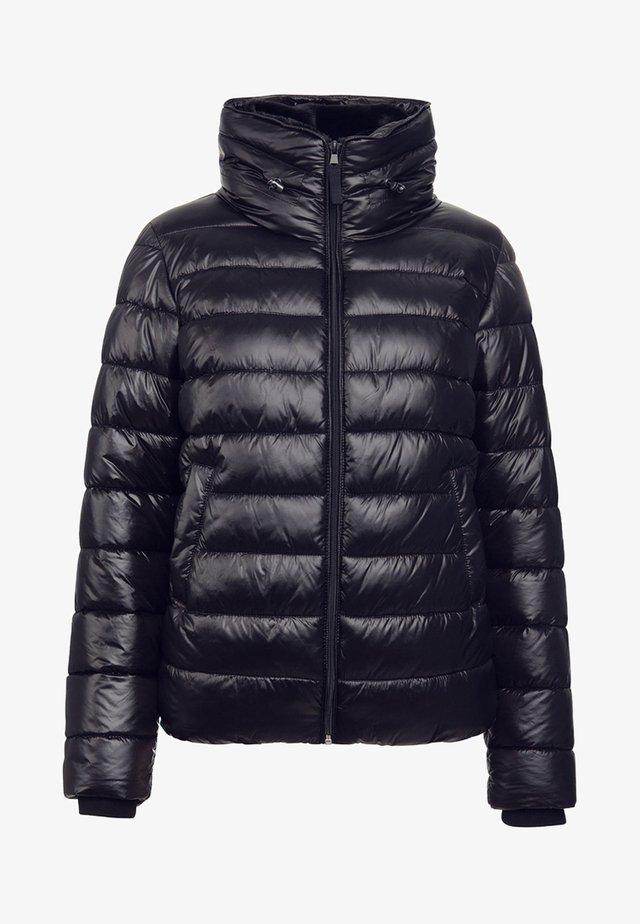 MIT DOPPELKRAGEN - Winter jacket - black
