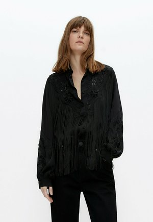 MIT FRANSEN - Button-down blouse - black