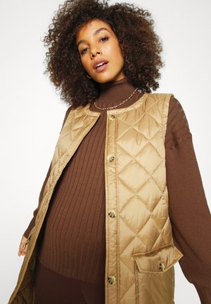 MATERNITY FRIENDLY EASY RIBBED ROLL NECK PULLOVER - Sweter - rich chocolate