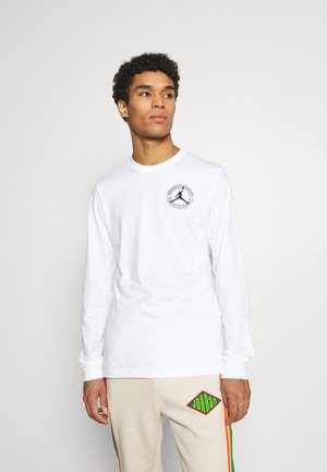 BRAND CREW - Long sleeved top - white