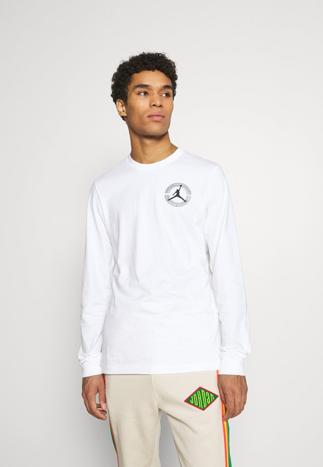 BRAND CREW - Long sleeved top - white