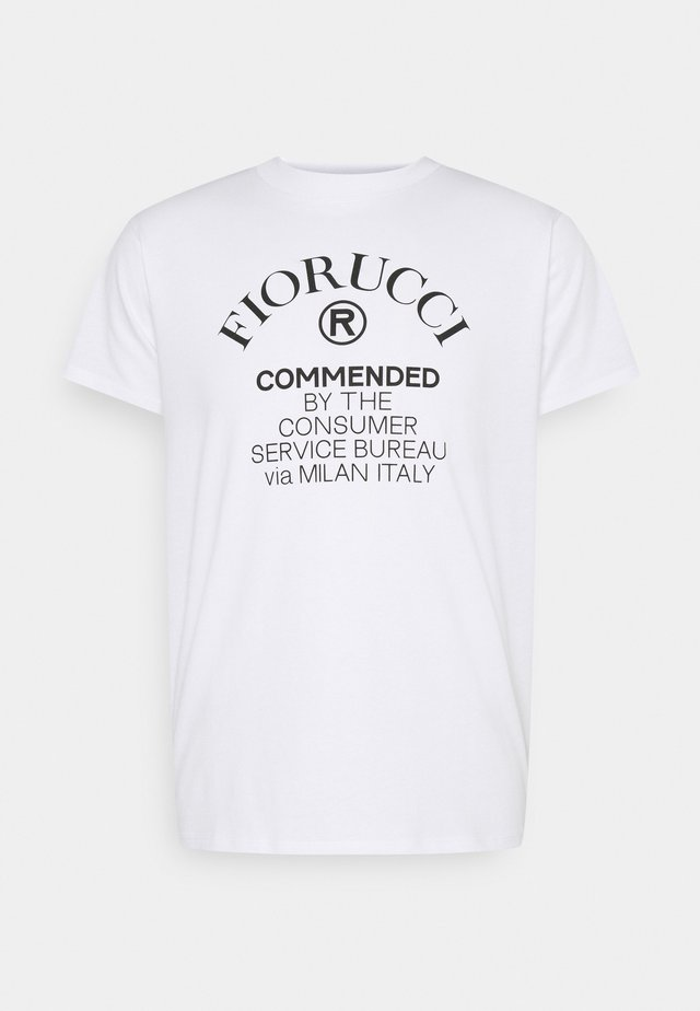 COMMENDED - T-shirt con stampa - white
