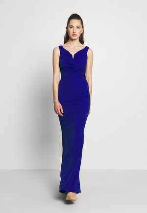 OFF THE SHOULDER DRESS - Occasion wear - cobalt blue