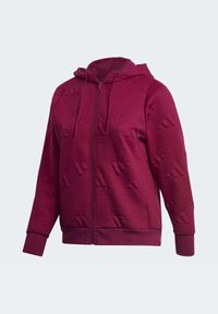 adidas Performance - AEROREADY JACQUARD FULL-ZIP LOGO HOODIE (PLUS SIZE) - Sudadera con cremallera - purple - 10