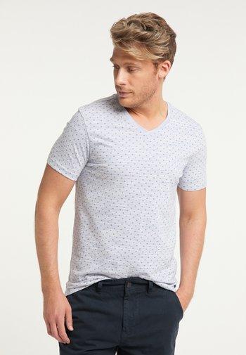 T-shirt med print - bleached aqua