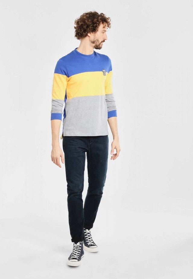 BLOCKOS  - Longsleeve - blue/yellow/grey