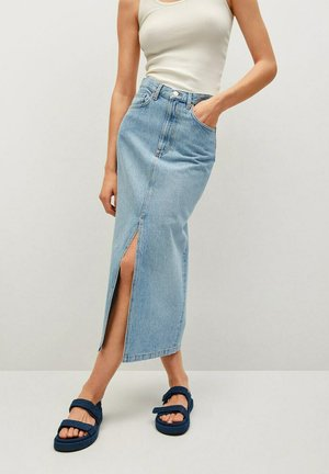 SIRA - Denim skirt - bleu moyen