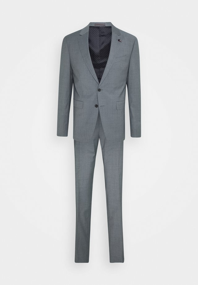 SLIM FIT SUIT - Kostuum - ice blue heather