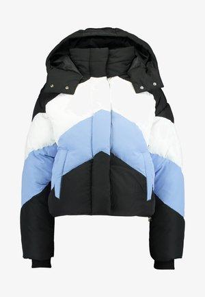 COL BLOCK PUFFER - Winter jacket - black