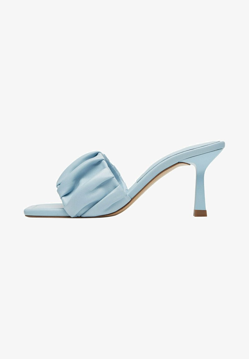 Uterqüe - Heeled mules - light blue