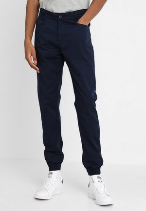 NAUTICAL TROUSERS - Kangashousut - dark navy
