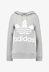 adidas Originals - ADICOLOR TREFOIL HOODIE - Kapuzenpullover - grey - 4