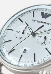 Emporio Armani - Chronograph watch - silver-coloured - 4
