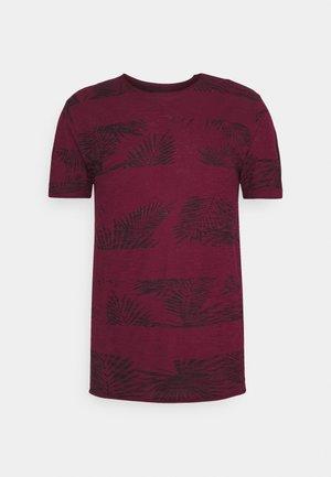 ALLEN - T-shirt med print - bordaux