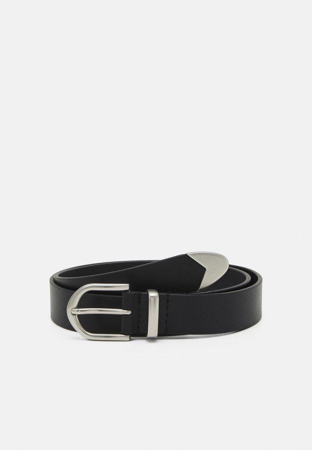 LEATHER UNISEX - Belt - black
