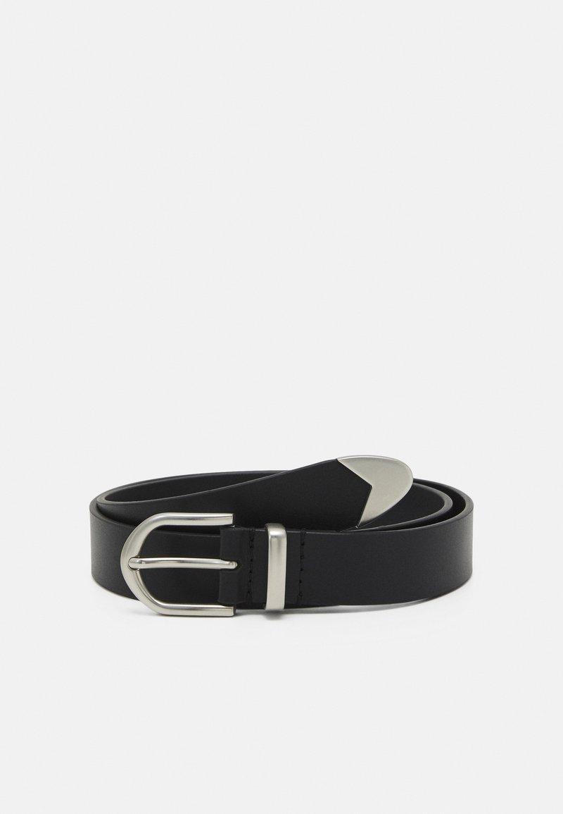 Zign - LEATHER UNISEX - Belte - black