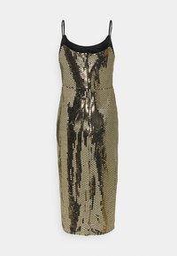 Missguided Tall - STRAPPY MIDI DRESS - Cocktail dress / Party dress - gold - 8