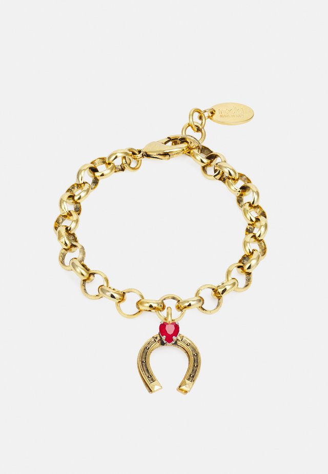 BRACELET - Bracciale - gold-coloured/red