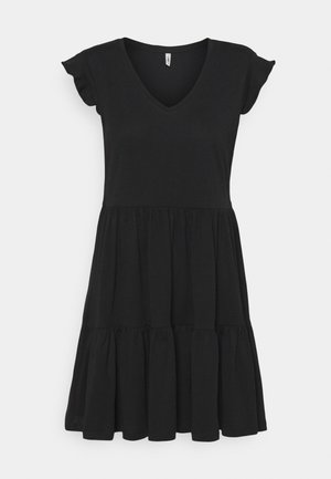 ONLMAY LIFE FRILL DRESS - Jersey dress - black
