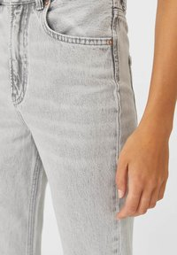 Stradivarius - IM STRAIGHT-FIT - Straight leg jeans - grey - 3