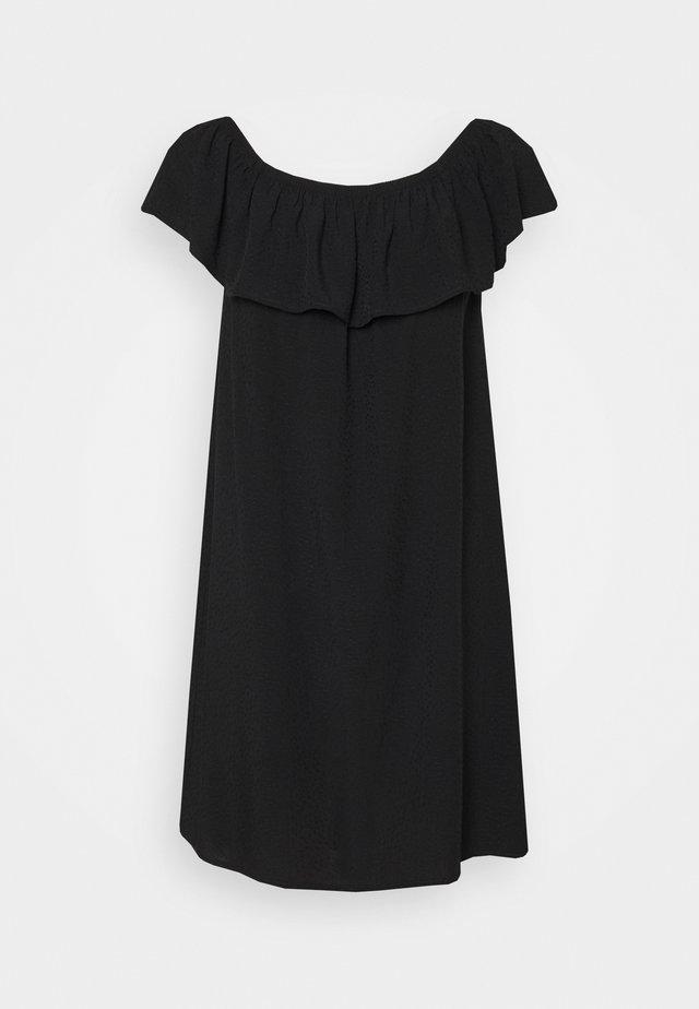 TEXTURED BARDOT BEACH DRESS - Strandaccessoire - black