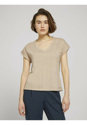 Basic T-shirt - dune beige